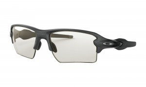 Okulary Oakley Flak 2.0 XL Steel Clear Black Iridium Photochromic OO9188-16