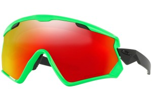 Okulary narciarskie Oakley Wind Jacket 2.0  80s Green Prizm Snow Torch Iridium OO7072-04
