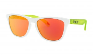 Okulary Oakley Frogskins Origins Collection Matte White/Uranium Prizm Ruby OO9013-I3