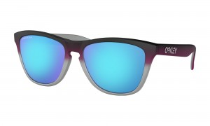 Okulary Oakley Frogskins Splatterfade Collection Black Pink Fade Silver Prizm Sapphire Iridium OO9013-F055