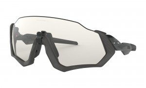 Okulary Oakley Flight Jacket Steel/Black Ink Clear Black Iridium Photochromic OO9401-0737
