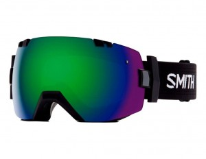 Gogle Smith I/OX BLACK GREEN SOL-X MIRROR