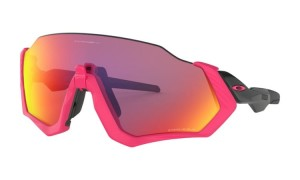 Okulary Oakley Flight Jacket Neon Pink/Polished Black Prizm Road OO9401-06