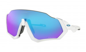 Okulary Oakley Flight Jacket Polished White Prizm Sapphire Iridium OO9401-0237