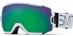 Gogle Smith VICE WHITE GREEN SOL-X MIRROR