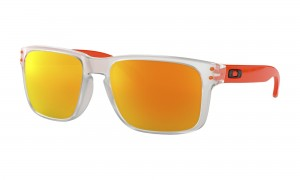 Okulary Oakley Holbrook Crystal Clear Fire Iridium OO9102-H5
