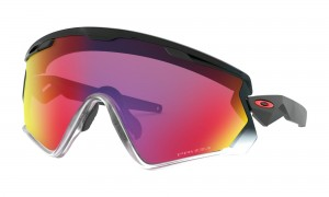 Okulary Oakley Wind Jacket 2.0 Black Fade Prizm Road OO9418-1745