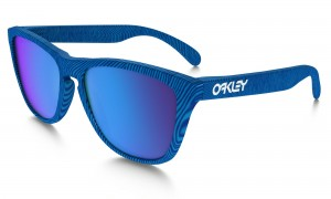 Okulary Oakley Frogskins Fingerpint Collection Sky Blue Sapphire Iridium OO9013-55