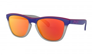 Okulary Oakley Frogskins Splatterfade Collection Pink Blue Fade Sliver Prizm Ruby OO9013-F155