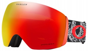 Gogle Oakley Flight Deck SETH Morrison Orange Craneos Muertos Red Prizm Torch Iridium OO705057