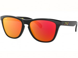 Okulary Oakley Frogskins Valentino Rossi Polished Black Prizm Ruby OO9013-E655
